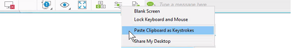 Paste Clipboard as Keystrokes